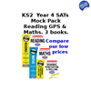 KS2 YEAR 4 MOCKS KS2 SATS PRACTICE TESTS [3 BOOKS] FOR ENGLISH AND MATHS