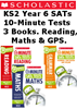 YEAR 6 10 MINUTE TESTS [3 BOOKS] KS2 SATS ENGLISH, GPS AND MATHS