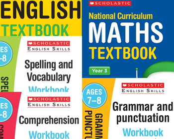 Year 3 Learning Pack [5 Books] KS2 Workbooks & Textbooks for Maths and English