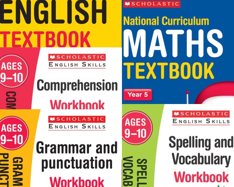 SatsBooks YEAR 5 LEARNING PACK [5 BOOKS] KS2 SATS ENGLISH & MATHS ...