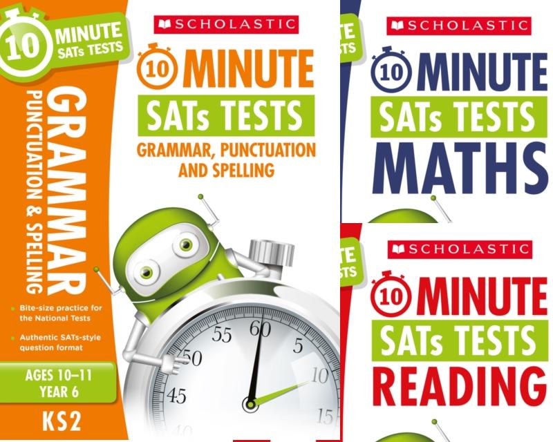 SatsBooks YEAR 6 10 MINUTE TESTS [3 BOOKS] KS2 SATS ENGLISH, GPS AND ...