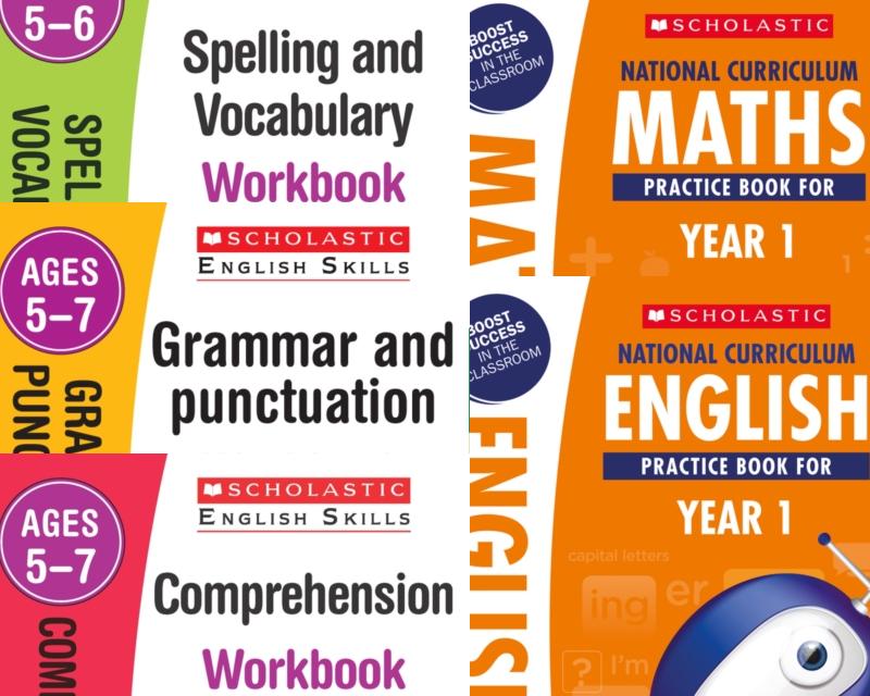 SatsBooks Scholastic Year 1 Learning Pack [5 BOOKS] KS1 SATs English ...