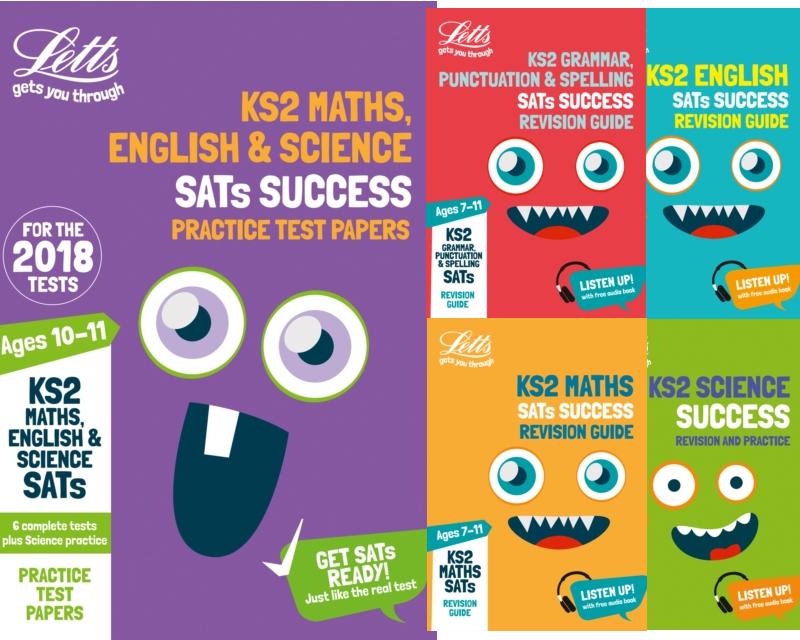 SatsBooks Letts Year 6 KS2 SATs Exam Revison Pack