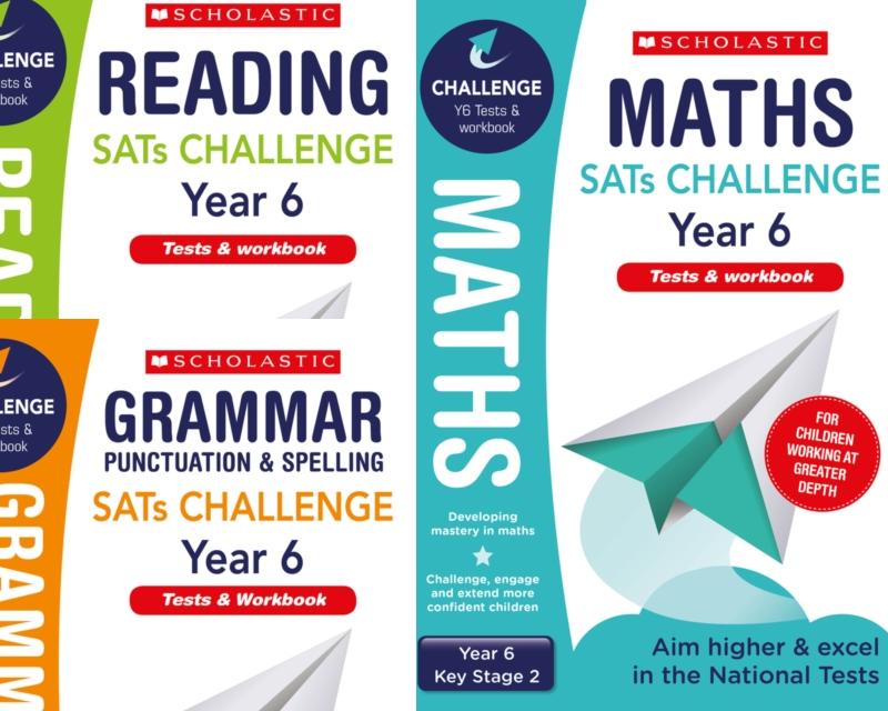 SatsBooks Scholastic Year 6 KS2 Challenge Pack [3 BOOKS] Tests ...