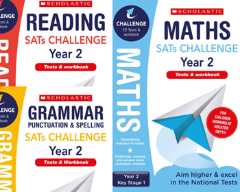 Scholastic Year 2 KS2 Challenge Pack [3 BOOKS] Year 2  Extension Assessment Tests & Workbooks with FREE P&P.