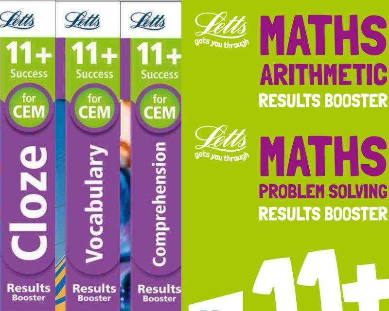 SatsBooks Letts CEM 11+ English Booster Pack [5 BOOKS] for ...