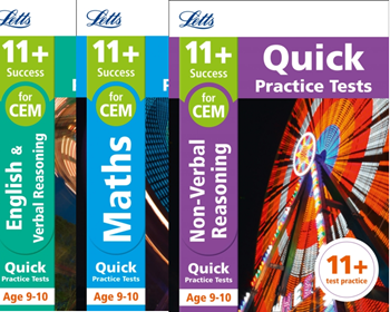 Letts CEM 11+ Quick Practice Tests Age 9-10 [3 Books]