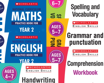Scholastic Year 2 Learning Pack [6 BOOKS] KS1 SATs English and Maths with FREE P&P