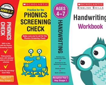 Scholastic Phonics Screening Check and Handwriting Pack [2 BOOKS]