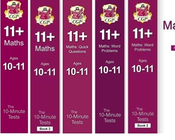 CGP CEM 11+ 10 minute Maths Tests Age 10-11 [5 Books] FREE P&P