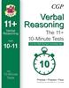 CGP CEM 11+ 10-Minute Tests (Age 10-11) Verbal Reasoning Book 1