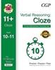 CGP CEM 11+ 10-Minute Tests (Age 10-11) Verbal Reasoning: Cloze (Book 2)