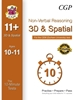 CGP 10-Minute Tests for 11+ NVR: 3D & Spatial Book 2