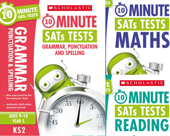 Scholastic Year 5 10-Minute Tests [3 BOOKS] KS2 SATs