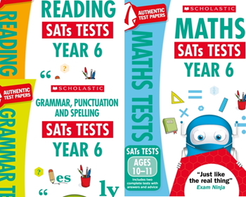 YEAR 6 KS2 NEW  MOCK PACK [3 BOOKS] KS2 SATS PRACTICE TESTS FOR ENGLISH & MATHS Dec 2018