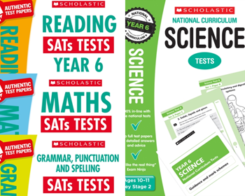 YEAR 6 KS2 MOCK TEST PACK [4 BOOKS] KS2 SATS MATHS, ENGLISH & SCIENCE TESTS